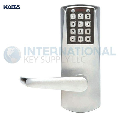 Kaba Access P2031LL-626-41 Pushbutton Lock, PowerPlex Cylindrical Lock Satin Chrome - DS