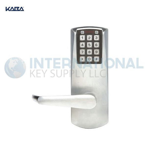Kaba Access P2031XSLL-626-41 Pushbutton Lock PowerPlex Cylindrical Lock Satin Chrome - DS