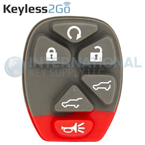 Keyless2Go 6 Button Remote PAD ONLY For GM OUC60270 OUC60221 22756462 - 5 PACK