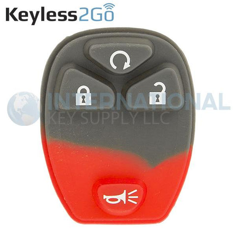 Keyless2Go 4 Button Remote PAD ONLY For GM OUC60270 OUC60221 20952474  - 5 PACK