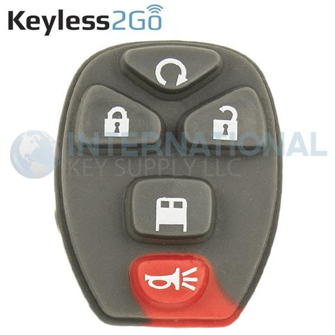Keyless2Go 5 Button Replacement PAD for GM Vans OUC60270 20970808 - 5 PACK