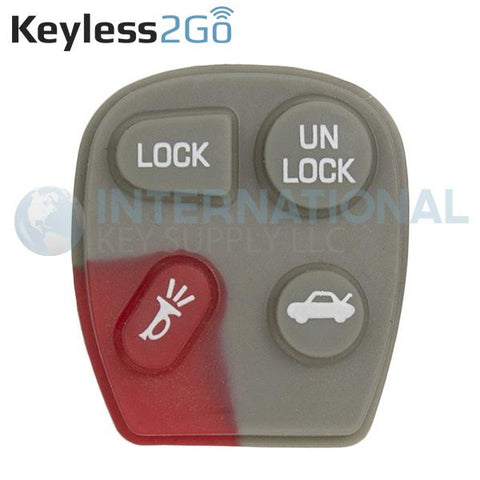 Keyless2Go 4 Button Replacement PAD for GM KOBUT1BT 25678792 - 5 PACK