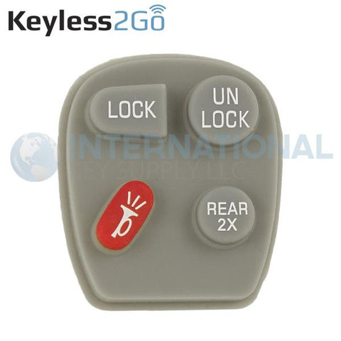 Keyless2Go 4 Button REAR 2x Replacement PAD for GM KOBUT1BT 15732805  - 5 PACK