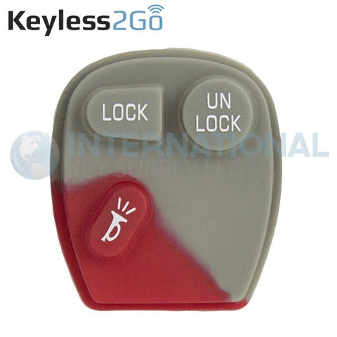 Keyless2Go 3 Button Replacement PAD for GM KOBLEAR1XT KOBUT1BT 15732803 15042968 - 5 PACK