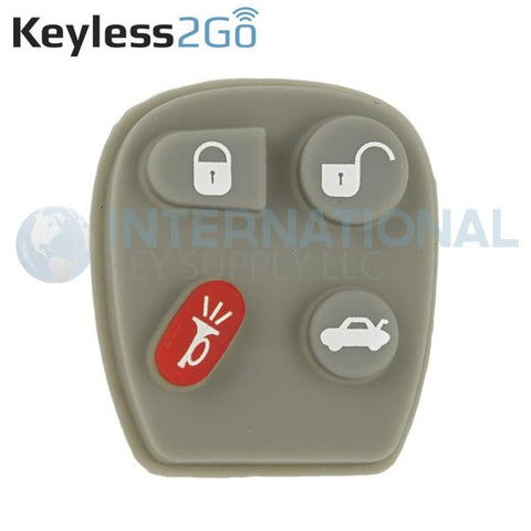 Keyless2Go 4 Button Replacement PAD for GM KOBUT1BT 25665574 256655755  - 5 PACK