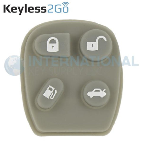 Keyless2Go 4 Button Gas Replacement PAD for GM KOBUT1BT 25656444 25656445  - 5 PACK