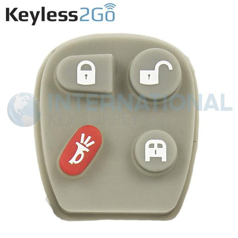 Keyless2Go 4 Button Replacement PAD for GM VAN KOBLEAR1XT 15752330 - 5 PACK