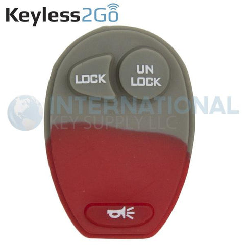 Keyless2Go 3 Button Replacement PAD for GM L2C0007T 10335583 - 5 PACK
