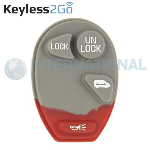 Keyless2Go 4 Button Replacement PAD for GM L2C0007T 10335586
