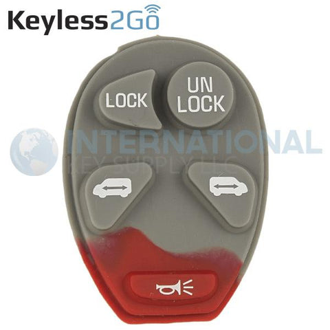 Keyless2Go 5 Button Replacement PAD for GM L2C0007T 10335582-88 - 5 PACK