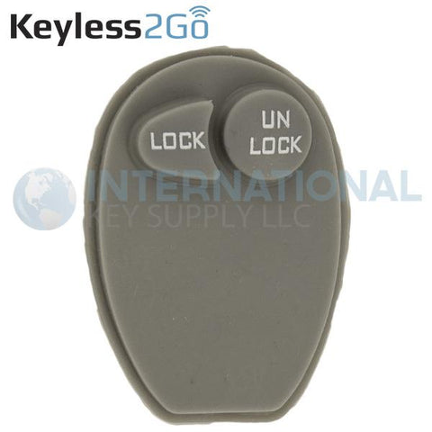 Keyless2Go 2 Button Replacement PAD for GM L2C0007T 10335585  - 5 PACK