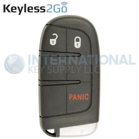 Keyless2Go 3 Button Proximity Tombstone Smart Key For Chrysler Dodge Jeep M3N-40821302