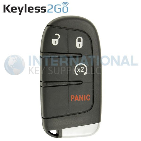 Keyless2Go 4 Button RS Proximity Tombstone Smart Key For Chrysler Dodge Jeep M3N-40821302