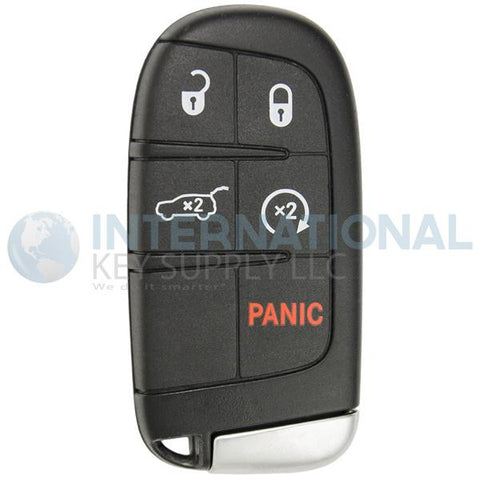 Jeep Compass 5 Button GEN4 Tombstone Proximity Smart Key Remote M3N-40821302 68250343 AB
