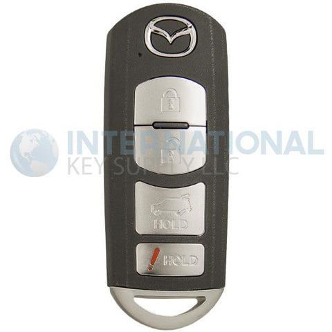 Mazda 4 Button Proximity Remote Smart Key WAZSKE13D02 / TKY2-67-5DY
