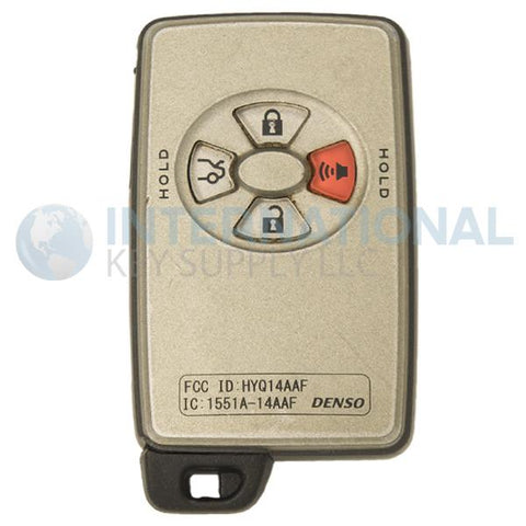 Toyota 4 Button Proximity Remote Smart Key HYQ14AAF 89904-07030
