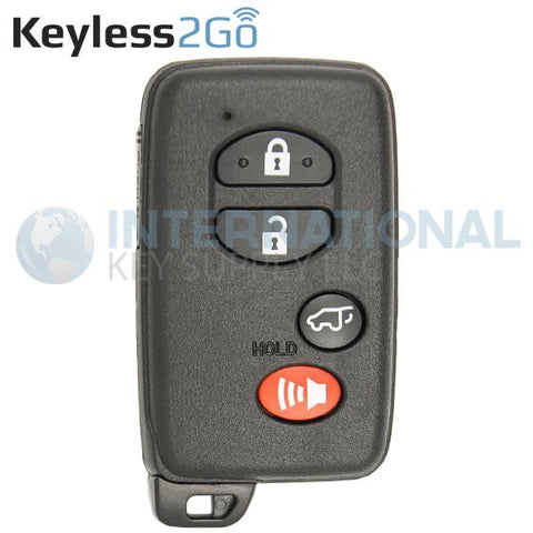 Keyless2Go 4 Button Proximity Smart Key for Toyota HYQ14AAB / Board 0140