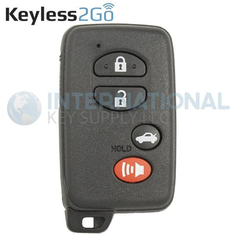 Keyless2Go 4 Button Proximity Smart Key for Toyota Camry HYQ14AAB / # Board 0140