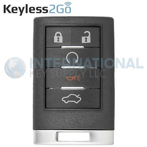Keyless2Go 5 Button Remote Key Fob for Cadillac OUC6000066 20998255