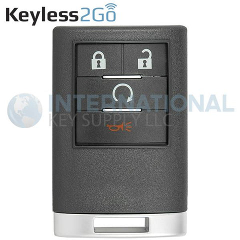 Keyless2Go 4 Button Remote Key Fob for Cadillac OUC6000066 22756463