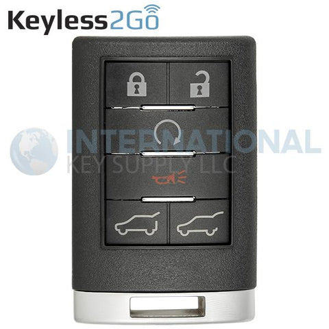 Keyless2Go 6 Button Remote Key Fob for Cadillac OUC6000066 22756465