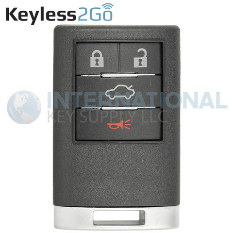 Keyless2Go 4 Button Remote Key Fob for Cadillac OUC6000066 22889449