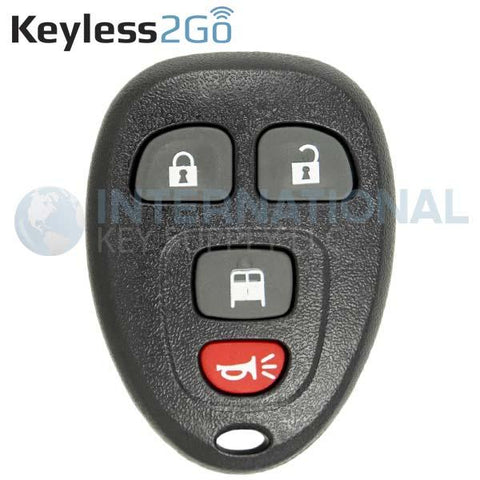 Keyless2Go GM 4 Button Replacement Remote OUC60270 15883405