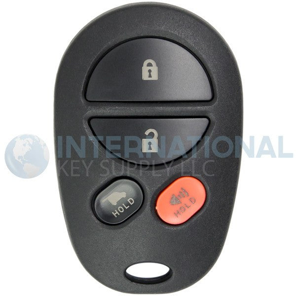Toyota Remote Key Fob 4 Button with Hatch GQ43VT20T