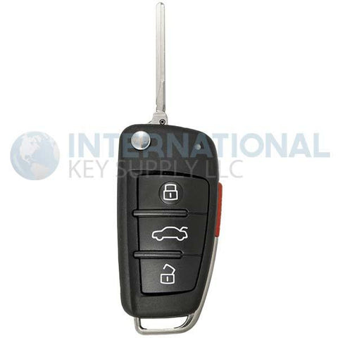 Audi 4 Button Remote Flip Key MYT4073A 8E0-837-220-R