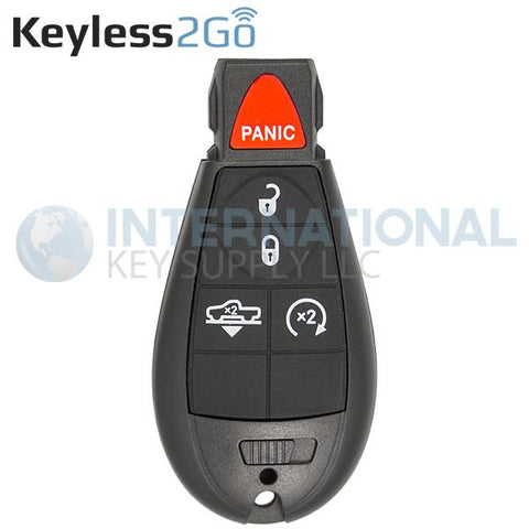 Keyless2Go 5 Button With Air Suspension and RS Remote Fobik Key For RAM GQ4-53T / 68159655 AG