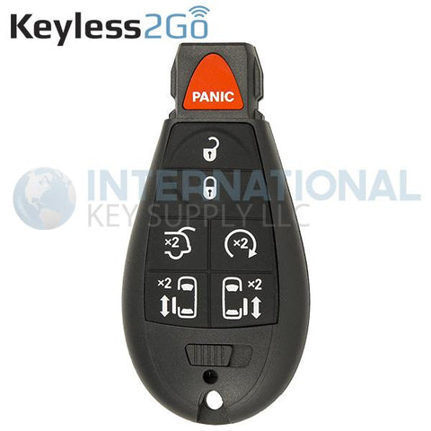 Keyless2Go 7 Button Fobik Remote Key For Chrysler Dodge M3N5WY783X IYZ-C01C