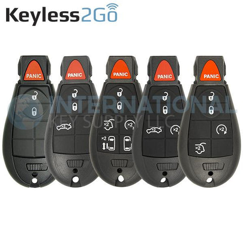 Keyless2Go Chrysler Dodge Jeep Fobik Remote Keys M3N5WY783X, IYZ-C01C - Popular 5 Pack