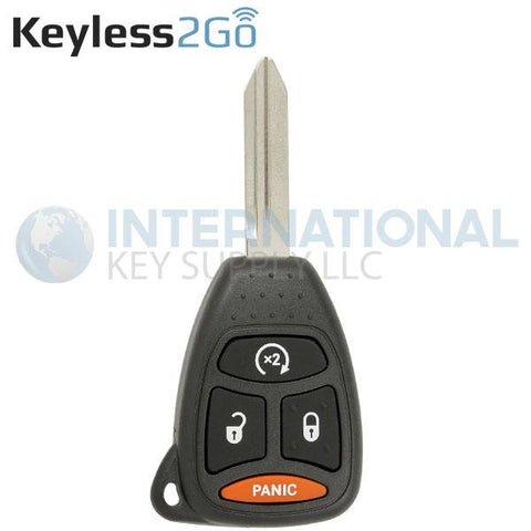 Keyless2Go 4 Button With RS Remote Head Key For Chrysler Dodge Jeep KOBDT04A