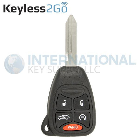 Keyless2Go 5 Button Replacement Remote Key w/Trunk for select Jeep OHT692427AA KOBDT04A