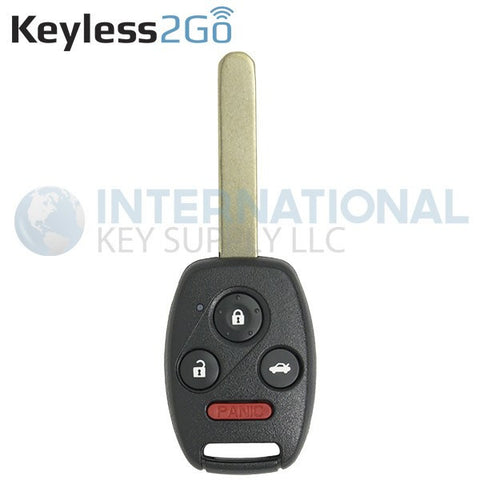 Keyless2Go 4 Button Remote Key for 2003-2007 Honda Accord