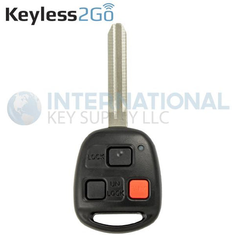 Keyless2Go 3 Button Remote Head Key HYQ1512V / 4C Chip / 89070-60090