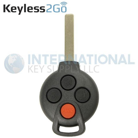 Keyless2Go 4 Button Remote Head Key for Smart Fortwo KR55WK45144