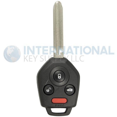 Subaru 4 Button Remote Key Combo CWTWBU766 / 57497-FJ031 / B110 / G Chip