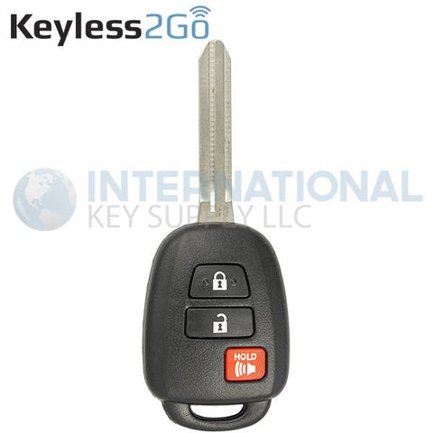 Keyless2Go 3 Button Remote Key For Toyota GQ4-52T / 89071-0R040 / H Chip