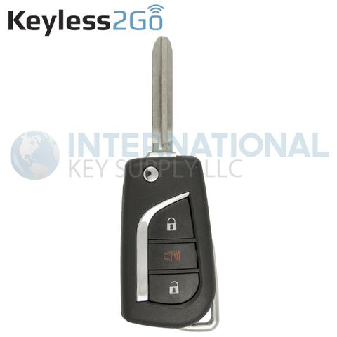 Keyless2Go 3 Button Remote Flip Key for Toyota HYQ12BBY / 89070-35170 / G Chip