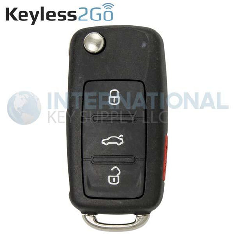 Keyless2Go Remote Flip Key CAN for Volkswagen 5K0837202AE | NBG010180T | NBG010206T