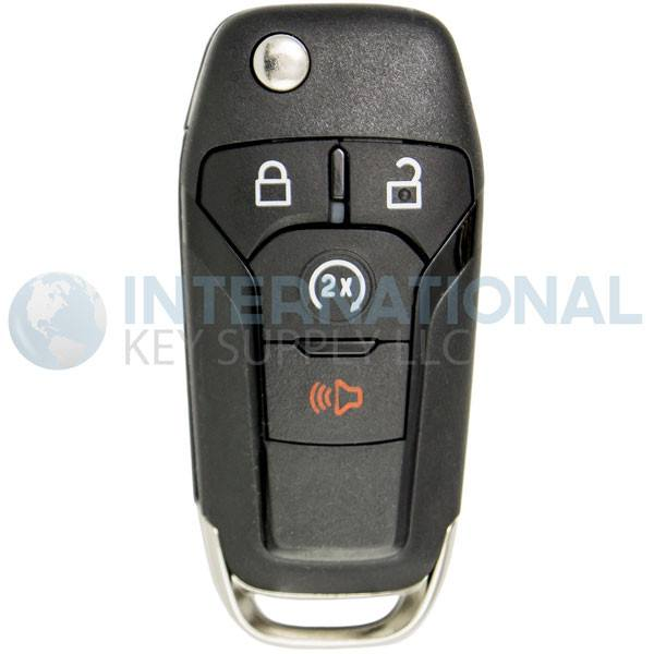 FCC ID: N5F-A08TDA, P//N: 164-R8134 OEM Ford 4-Button Flip Key Fob Remote with Remote Start