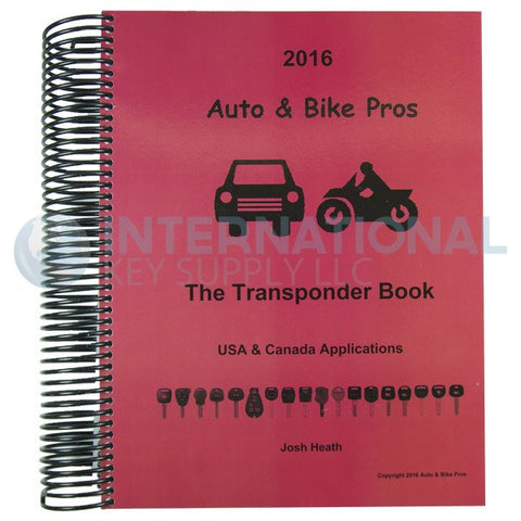 Josh Heath 2016 Auto & Bike Transponder Book