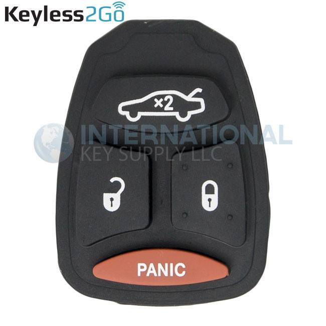 Keyless2Go Replacement 4 Button Pad For Dodge Chrysler