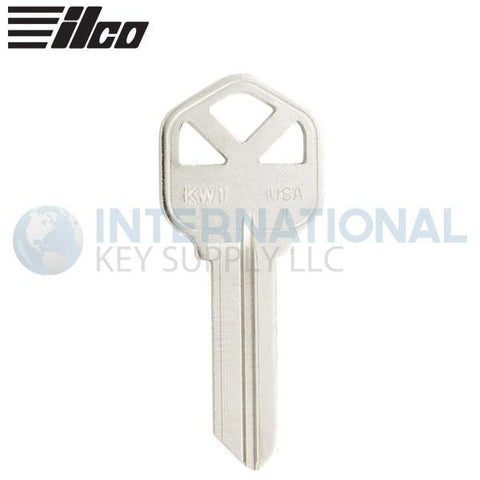 ILCO 1176 Kwikset KW1 Key Blank - Nickle Plated Brass - 50 Pack