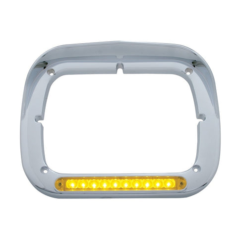 10 LED Single Headlight Bezel w/ Visor -