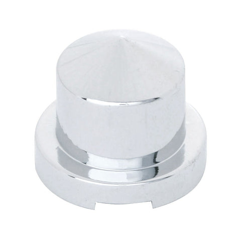 Chrome Pointed Nut Cover Push On Flange 7/16 Dia x 3/4 Height