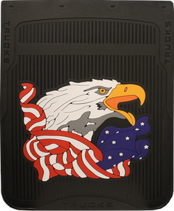 "American Eagle - Black Background - Mud Flaps 24"" x 24"""