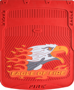 "Eagle of Fire - Red Background Horizontal - Mud Flaps 24"" x 30"""