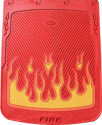 "Flames- Red Background - Mud Flaps 24"" x 30"""